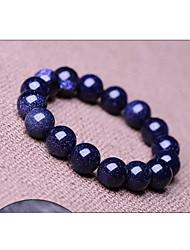 azul céu estrelado naturais pedras de cristal genuína tibetano pulseira de contas vertente, a jóia unisex