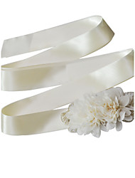 Satin Wedding / Party/ Evening / Dailywear Sash-Floral Women's 98 in(250cm) Floral