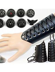 Schmuck Inspiriert von Assassin's Creed Cosplay Anime/ Videospiel Cosplay Accessoires Abzeichen / Ring Schwarz Legierung / Lackleder Mann