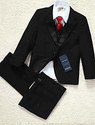 Polyester Ring Bearer Suit - 5 Pieces Includes  Jacket / Shirt / Vest / Pants / Bow Tie