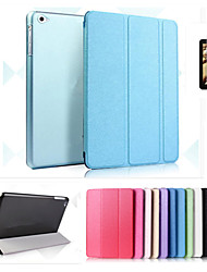 Smart Cover Leather Case+PC Translucent Back Case For iPad Air Air2 +Free Gift Protector Film+Touch Pen