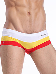 Direct manufacturers colorful gradient color stripes personality sexy low rise seamless underwear men's boxer