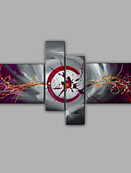 Abstract Design Painting 4 Pieces Group Oil Painting Design