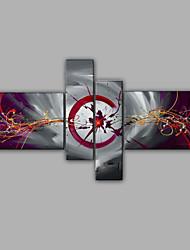 abstraktes Design 4 Stück Gruppe Ölgemälde Design Malerei