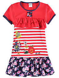 Vestido Chica de - Verano - Algodón - Rojo