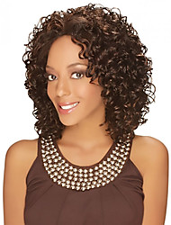 High Quality African Brown Wig Fashion Style High Temperature Wire Short Curly Hair Wig