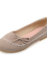Women's Shoes Flat Heel Comfort / Round Toe Flats Casual Blue / Yellow / Pink / Almond