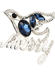 Brooch Hight Quality Sea Blue Crystal Acrylic Rhinestone Brooches Pins Wedding Jewelry Badges with Pin Wholesale X30008