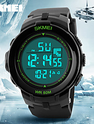 SKMEI® Big LCD Display Alarm Stopwatch Rubber Band Sports Watch Cool Watch Unique Watch