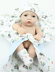 NPKDOLL Reborn Baby Doll Hard Silicone 11inch 28cm Waterproof Toy Small Quilt Boy