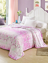 Flowers High-end Air Conditioning Quilt  100% Tencel Air Conditioning Quilt  Summer Cool Quilt Full/Queen