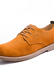 Men's Shoes Outdoor / Office & Career/Work & Duty / Party & Evening / Dress/ Casual Suede Oxfords Blue/Yellow/Taupe
