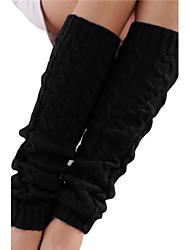 The new solid color fashion knitting yarn twist knee set of legsX