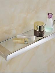Cesto para Box de Banheiro / Gadget de Banheiro Espelhado De Parede 31x15x15cm(12*5.9*5.9inch) Aço Inoxidável Contemporâneo