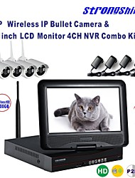 Strongshine® Wireless IP Camera with 720P/Infrared/Waterproof and NVR with 10.1Inch LCD /1TB Surveillance HDD Kits