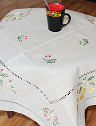 Multi-Purpose  Tablecloth With Size 85X85cm/33X33INCH  More Embroidery amd Cutting flower by hand