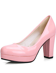 Women's Shoes Leatherette Chunky Heel Heels Heels Office & Career / Dress / CasualBlack / Blue / Yellow / Green