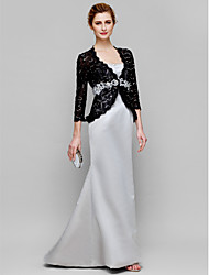 Women's Wrap Coats/Jackets 3/4-Length Sleeve Lace Black Wedding / Party/Evening V-neck 39cm Lace Hidden Clasp