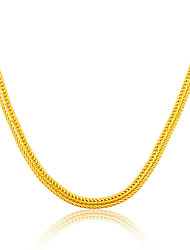 18K Gold Plated & Platinum Men Jewelry Wholesale 6. 33MM Wide Snake Chain Necklace N50118