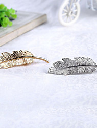 Bride's Leaves Shape Beads Wedding Barrette Hair Accessories 1 Pieces