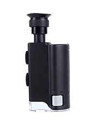 200x-240x do microscópio de zoom óptico com luz roxa e luz branca (3 x AAA)
