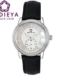 Mulheres Relógio de Moda Quartz Cronógrafo Couro Banda marca
