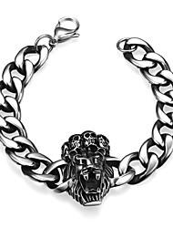 Lion Personality Retro Men's Stainless Steel Bracelet