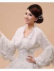 Long Sleeve Faux Fur Bridal Wedding/Special Occasion Wrap/Evening Jacket