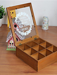 Eyelash Case  Underwear Cosmetics Wooden Desk multifunctional Storage Box