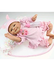 NPKDOLL Reborn Baby Doll Soft Silicone 18inch 45cm Magnetic Lovely Lifelike Toy Cute Boy Girl Smile Red