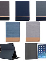 support de ceinture de grain de toile sur les cartes étui ouvert pour ipad air 2 / ipad 6 (couleurs assorties)