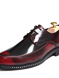 Men's Shoes Casual/Office/Party Classic Fashion PU Leather Shoes Black/Silver/Wine red