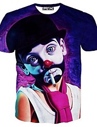 Halloween clown 3 d design lovers t-shirts with short sleeves