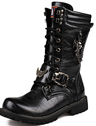 Men's Boots Cowboy / Western Boots Riding Boots Motorcycle Boots Bootie Combat Boots Comfort Spring Summer Fall Winter Synthetic Casual