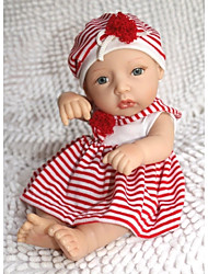 NPKDOLL Reborn Baby Doll Hard Silicone 11inch 28cm Waterproof Red-White Girl