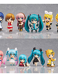Hatsune Miku 12pcs action figure in PVC bambola di modello anime