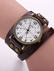 Xu™ Women's Fashion Restoring Ancient Ways Winding Genuine Leather Quartz Watch Cool Watches Unique Watches