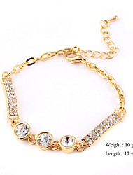 European Style Elegant Zircon Chain Bracelet Gold Plated