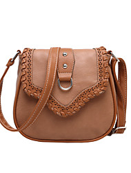 Women's PU Woven Splice Shoulder Crossbody Bag  Handbag Tote  Satchel