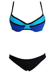 Women's  Neon Color Block Two Piece Swimsuit