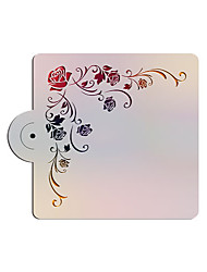 Square Rose Design Fondant Cake Deorationg Stencil,Cake Top Stencil Template,Wedding Cake Stencil Wall Stencils ST-3179