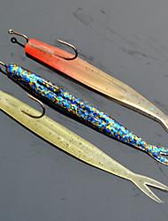 """3pcs pc Esche morbide Colori casuali 6g g/1/4 Oncia,100mm mm/4"""" pollice,Plastica Pesca con esca"""