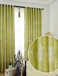 2 шторы Окно Лечение европейский Спальня Лен/хлопок материал Шторы портьеры Украшение дома For Окно