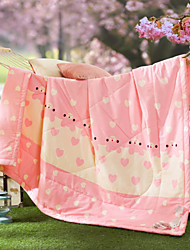 Love The Bear High-end 100% Cotton Air Conditioning Quilt summer Cool Quilt Full/Queen Size
