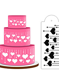 Heart Decoration Cake Stencil,Cake Top Stencil Decoration,Cake Side Decorating Stencils,Fondant Mold Cake ToolsST-D-03