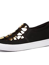 Серебристый / Золотистый-Женская обувь-Для офиса / Для праздника / На каждый день-Полотно-На плоской подошве-Удобная обувь-Лоферы