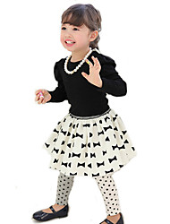 Girl's Bowknot Round Neck Three-Piece Lovely Clothing Sets