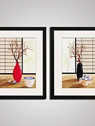 Абстракция / Цветочные мотивы/ботанический / Пейзаж / Отдых Отпечаток в раме / Холст в раме / Набор в раме Wall Art,ПВХ ЧерныйКоврик