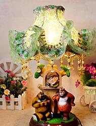 Valentine'S Day Bear Children Cloth Art Of Carve Patterns Or Designs On Woodwork Desk Lamp Led Light