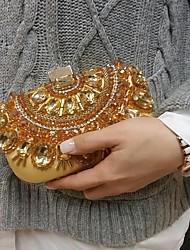 Women's Shinning Gold Party Wedding Evening Bag Clutch
